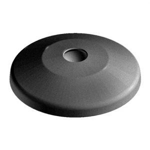 Base 40 for swivel foot plastic with anti-slip plate