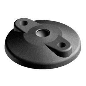 Base 80 for swivel foot P closed bolt down holes asp